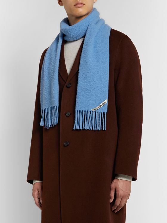 ACNE STUDIOS Fringed Boiled Wool Scarf