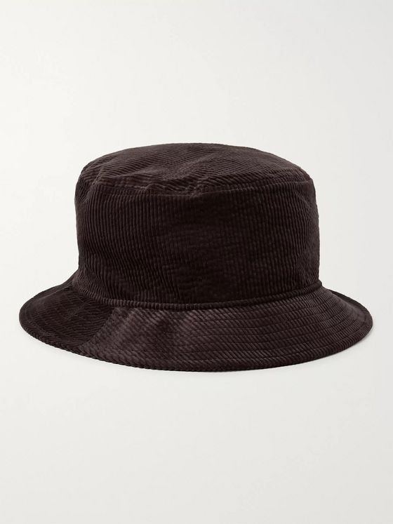 Acne Studios Logo-Embroidered Stretch Cotton-Corduroy Bucket Hat