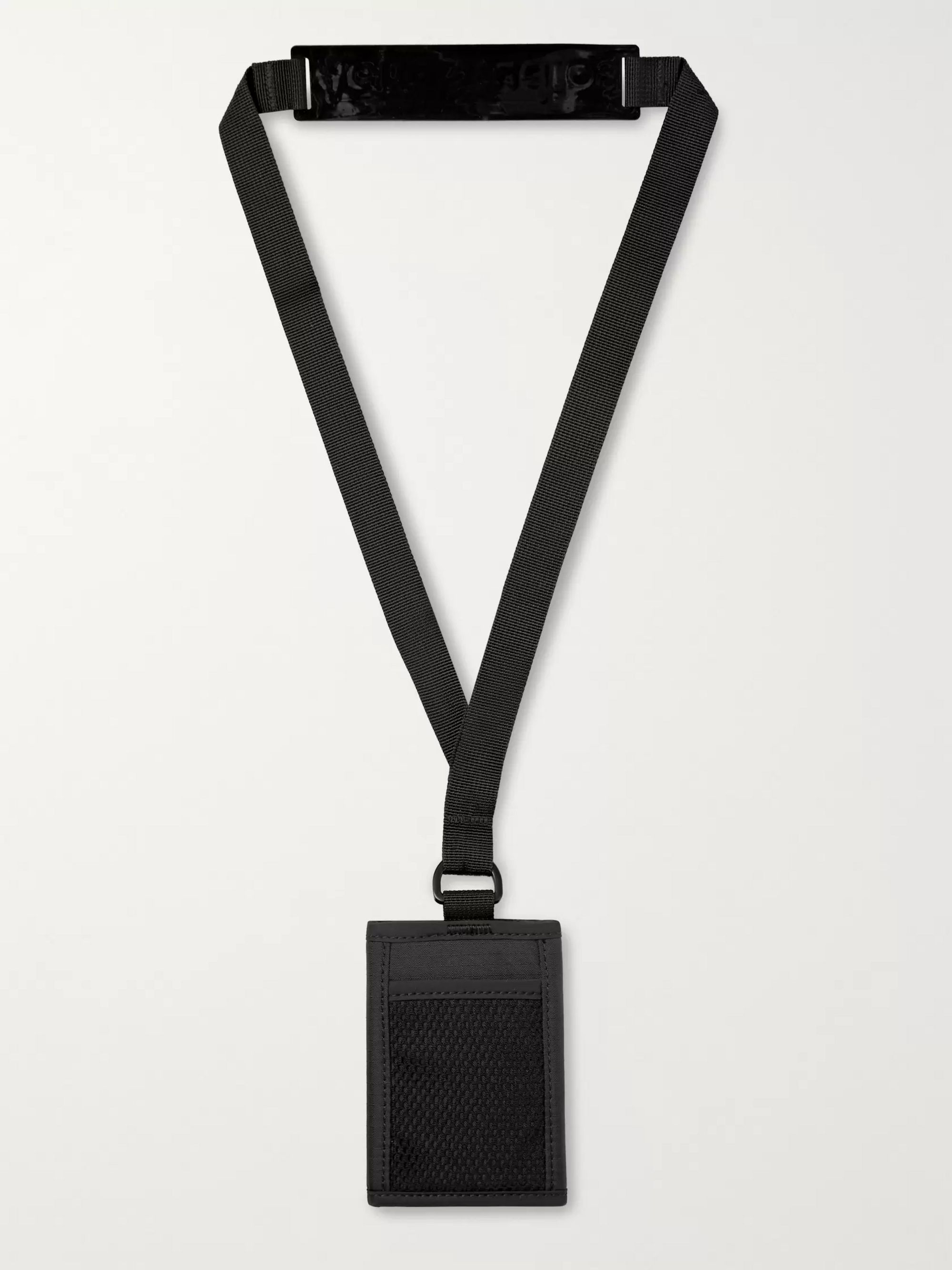 Acne Studios Logo-Appliquéd Ripstop Cardholder with Lanyard