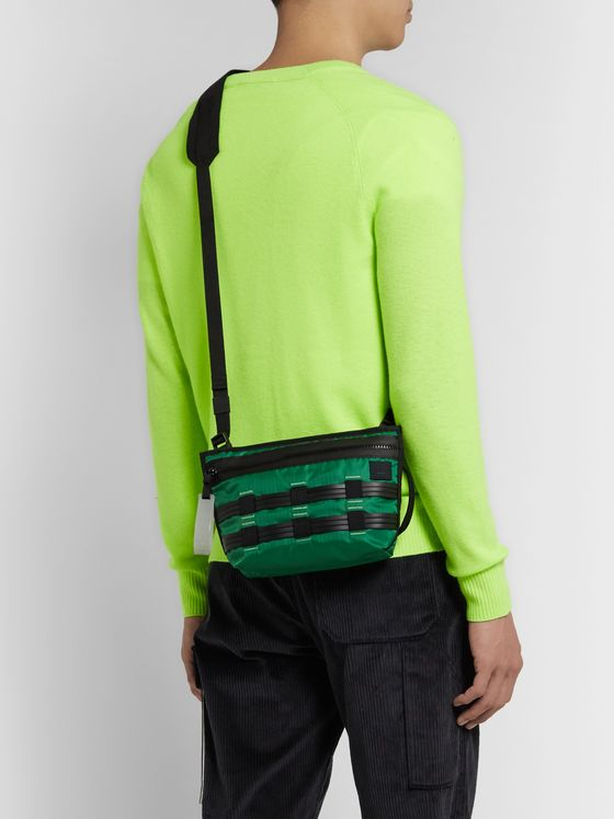 Acne Studios Logo-Appliquéd Rubber-Trimmed Ripstop Belt Bag