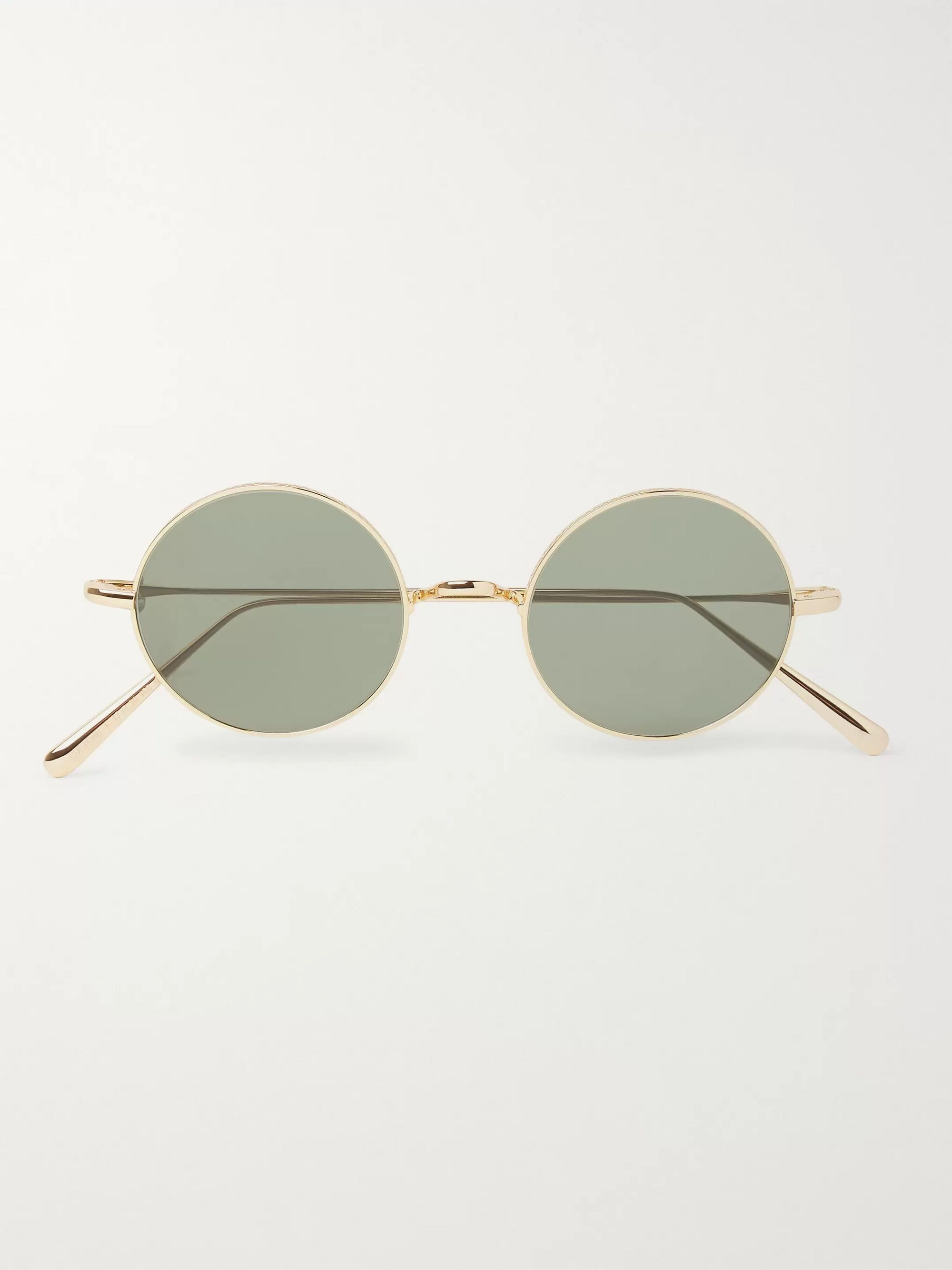 Cubitts Guilford Round-Frame Gold-Tone Metal Sunglasses