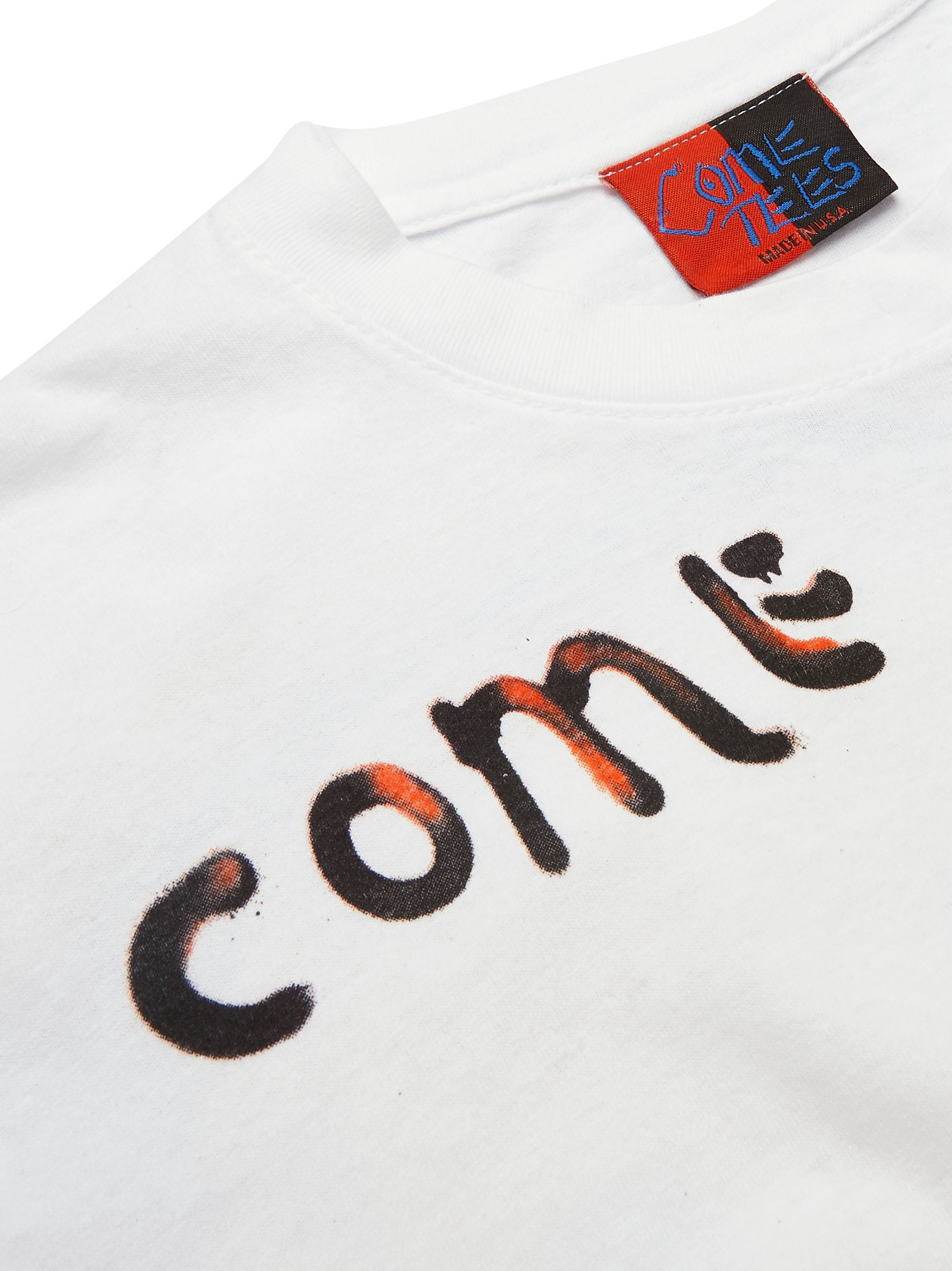 COME TEES Printed Cotton-Jersey T-Shirt