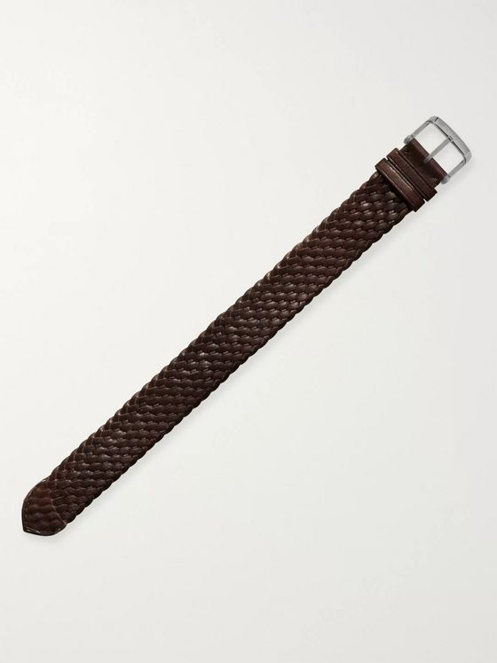 Tom Ford Timepieces Braided Leather Watch Strap