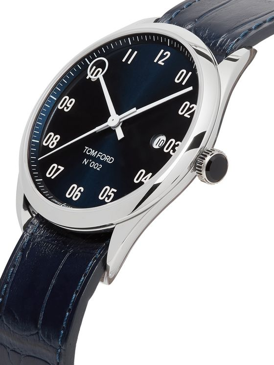 Tom Ford Timepieces 002 Automatic 40mm Stainless Steel and Alligator Watch