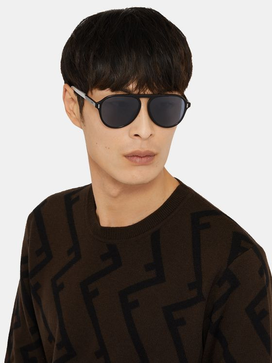 Fendi Aviator-Style Acetate Sunglasses