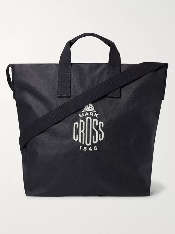 Mark Cross Weatherbird Logo-Embroidered Coated-Canvas Tote