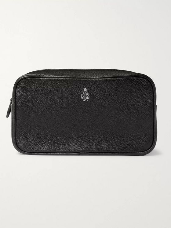 Mark Cross Full-Grain Leather Wash Bag