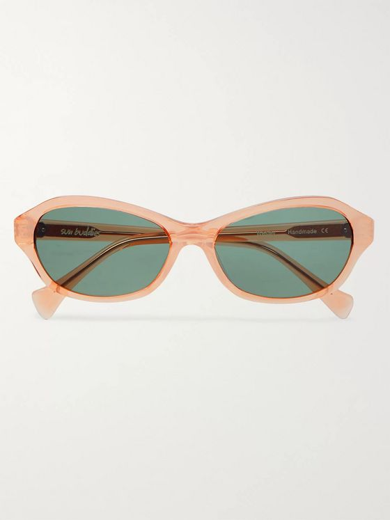 Sun Buddies Wesley Oval-Frame Acetate Sunglasses
