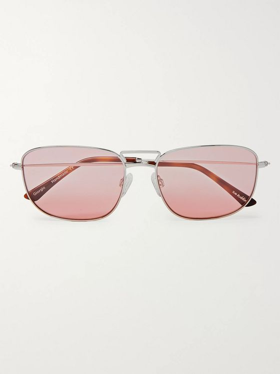 Sun Buddies Giorgio Square-Frame Gold-Tone Sunglasses