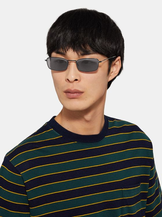 Sun Buddies E-40 Rectangle-Frame Acetate and Metal Sunglasses