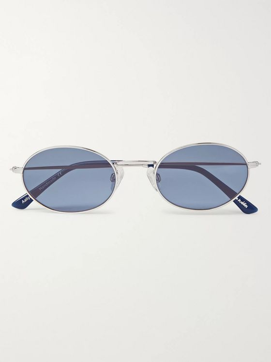 Sun Buddies Aaliyah Oval-Frame Gold-Tone and Tortoiseshell Acetate Sunglasses