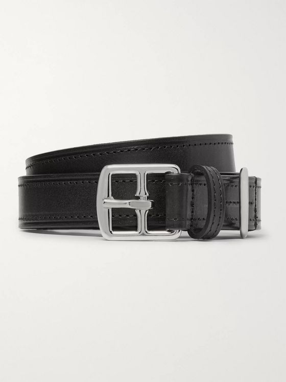 Anderson's 2.5cm Black Leather Belt