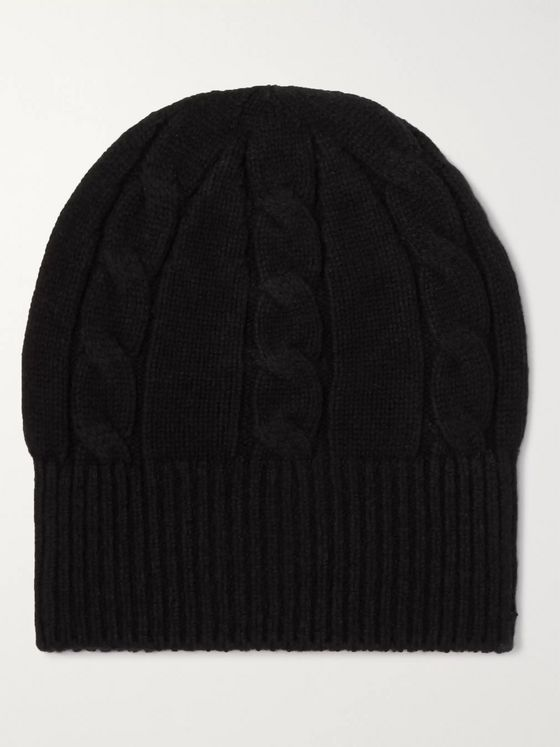 Anderson & Sheppard Cable-Knit Wool Beanie