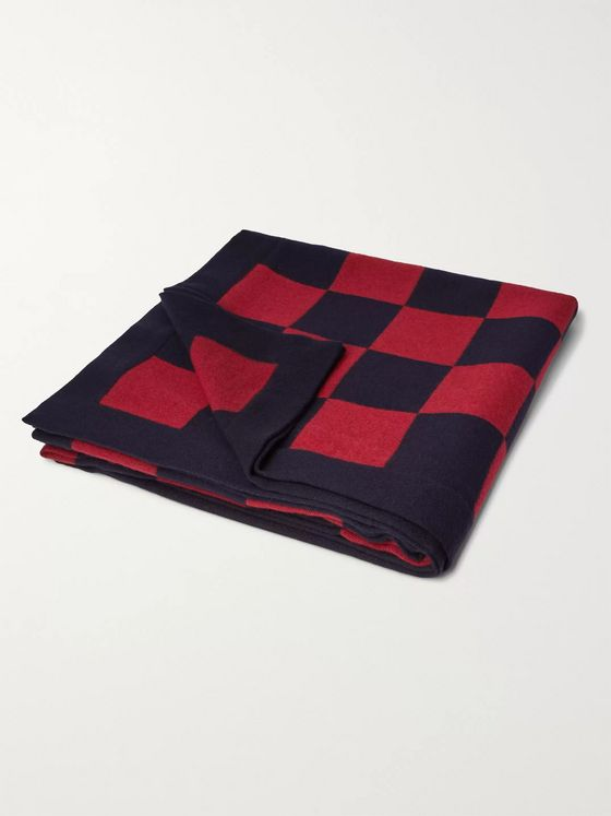 Anderson & Sheppard + Camoshita Checked Wool Blanket