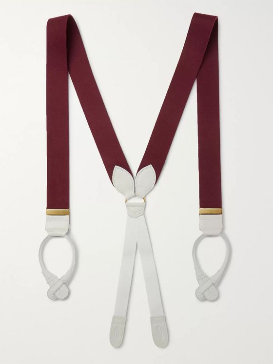 Anderson & Sheppard Leather-Trimmed Felt Braces