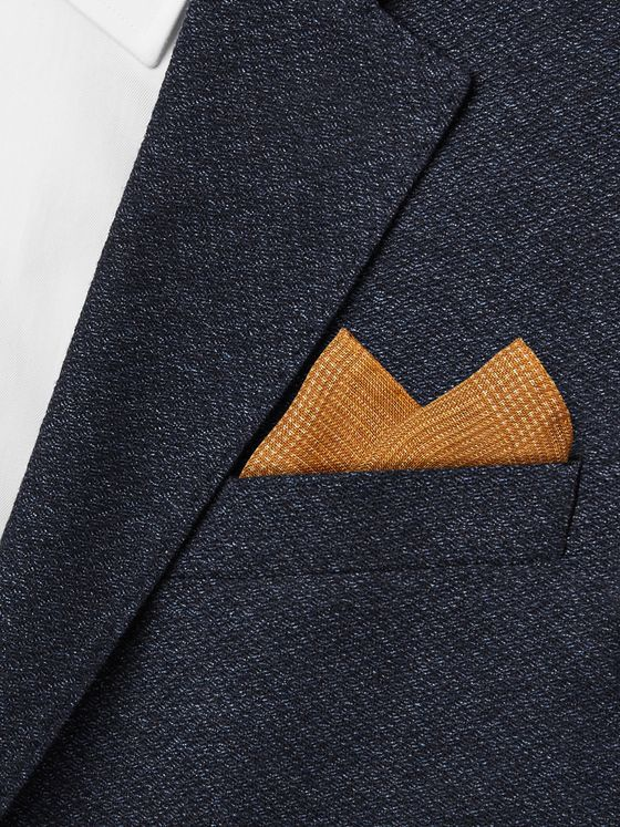 Anderson & Sheppard Prince of Wales Checked Wool and Silk-Blend Pocket Square