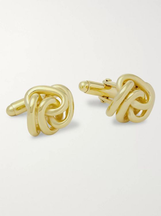 Lanvin Knotted Gold-Plated Cufflinks