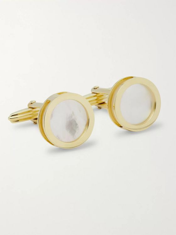 Lanvin Gold-Plated Mother-of-Pearl Cufflinks