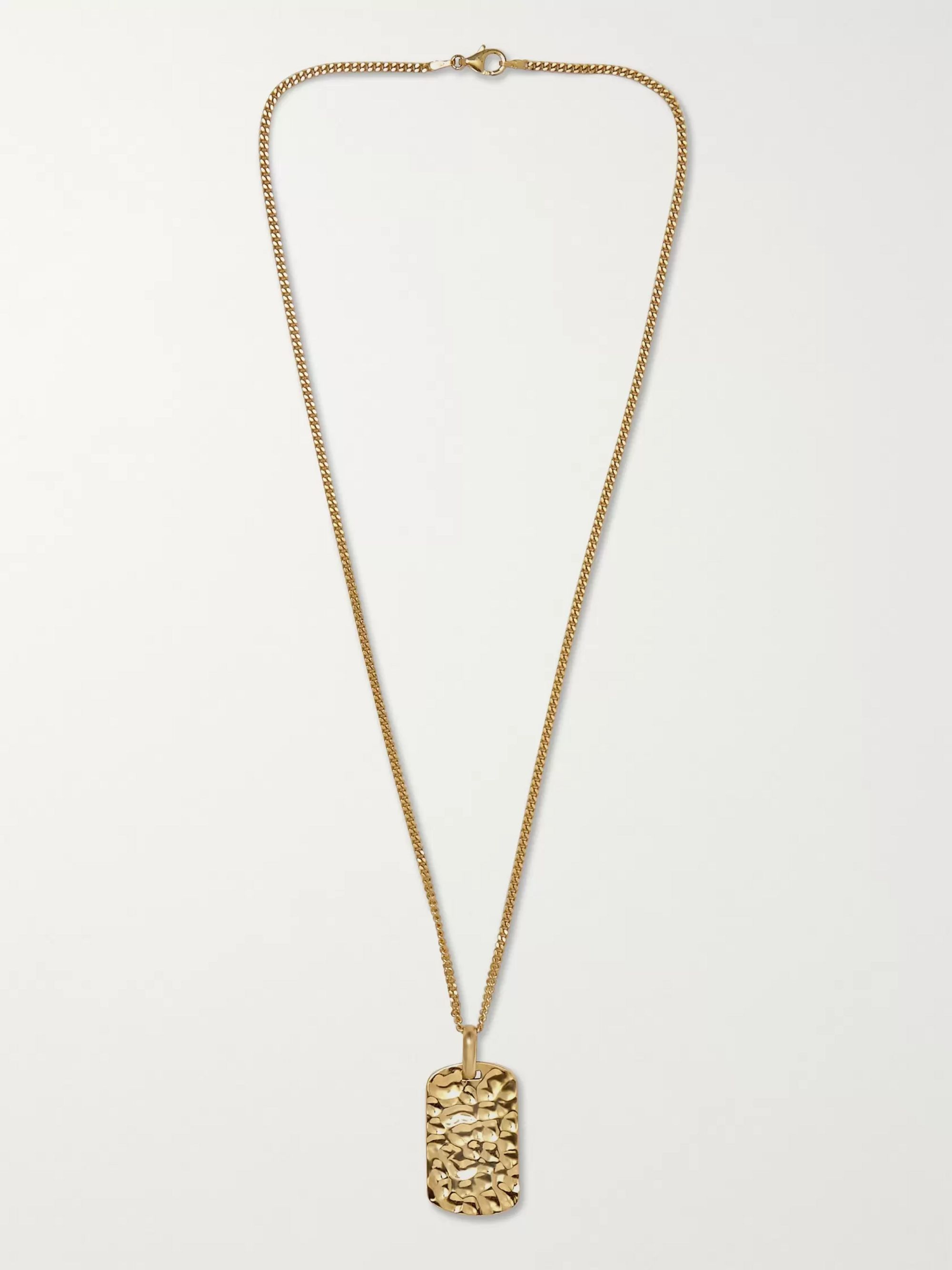 LAUD Hammered 18-Karat Gold Necklace