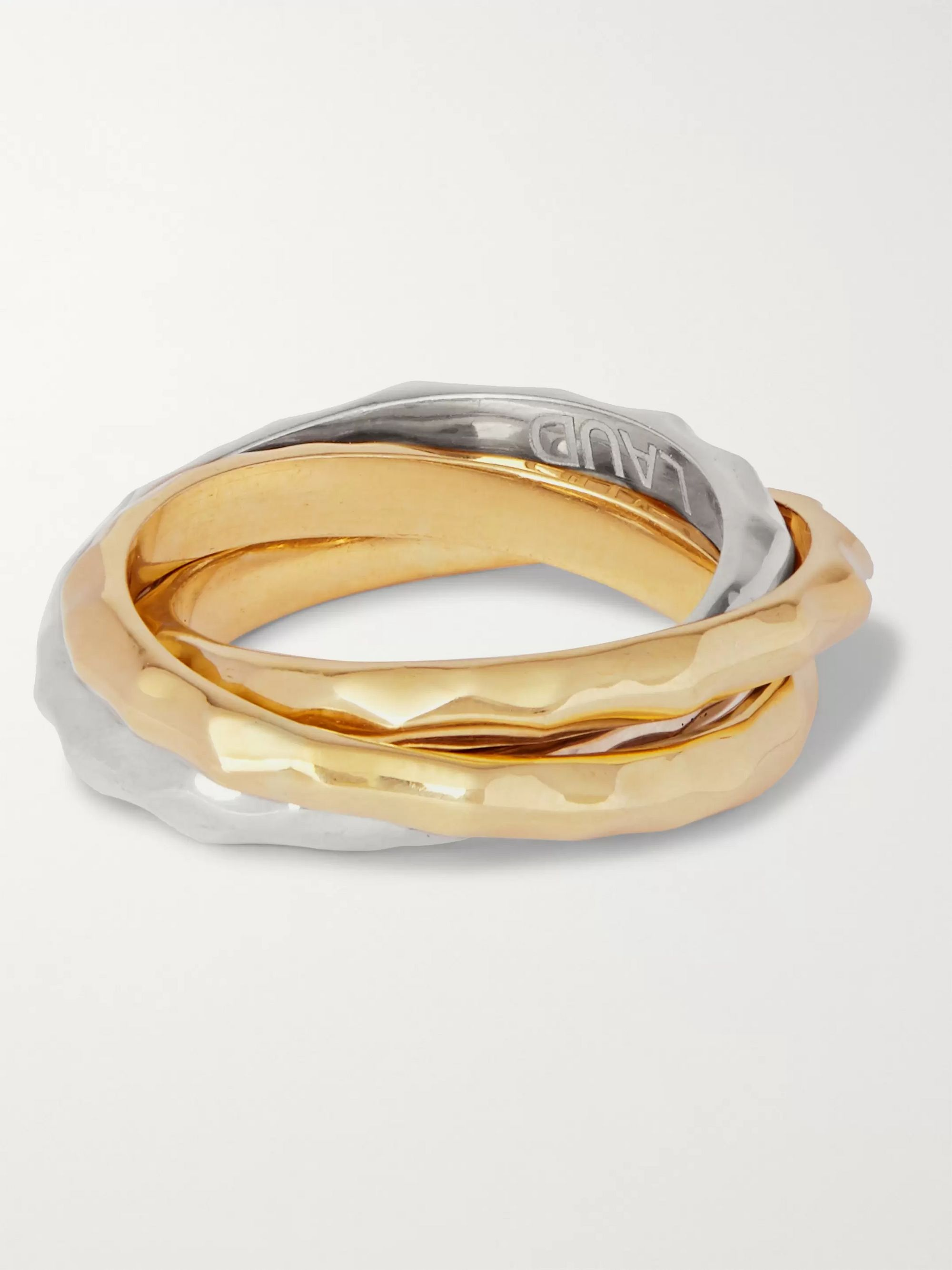 LAUD 18-Karat White and Yellow Gold Ring