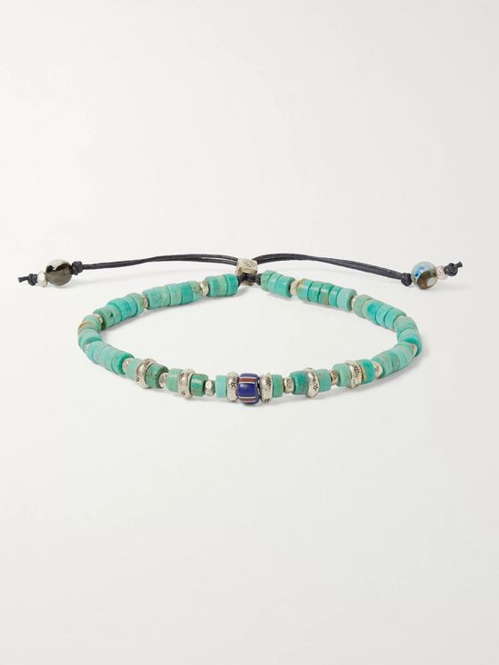 Peyote Bird Sterling Silver, Turquoise and Agate Bracelet