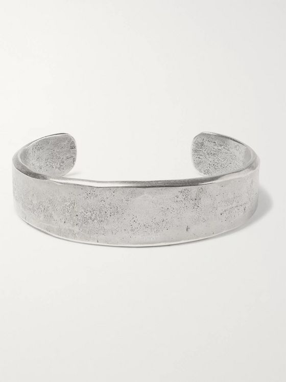 Peyote Bird Burnished Sterling Silver Cuff