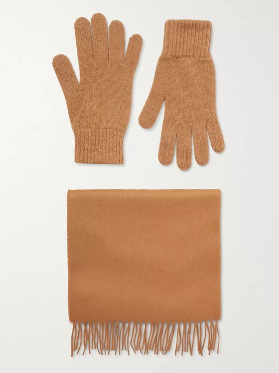 Johnstons of Elgin Cashmere Scarf and Gloves Set