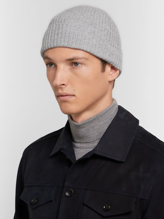 Johnstons of Elgin Ribbed Mélange Cashmere Beanie