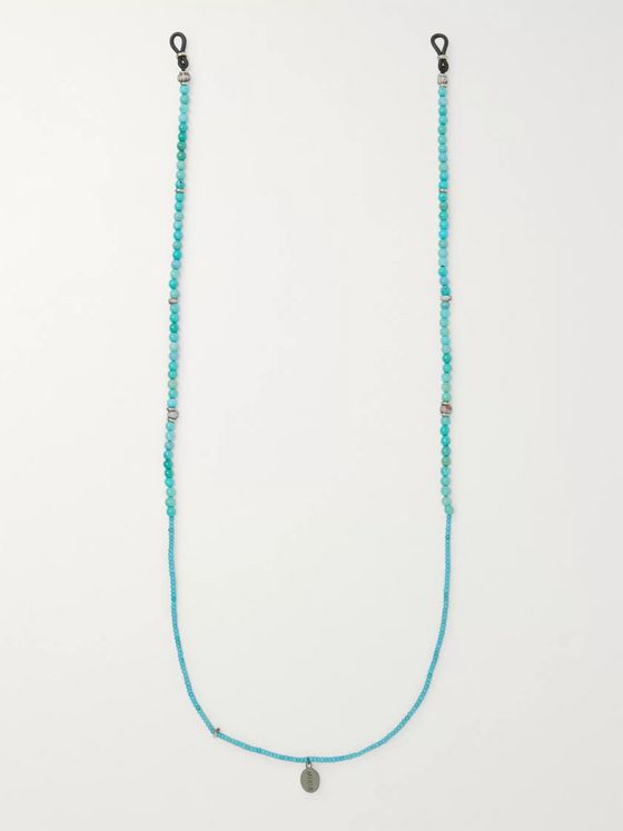 Mikia Obsidian Beaded Sunglasses Chain
