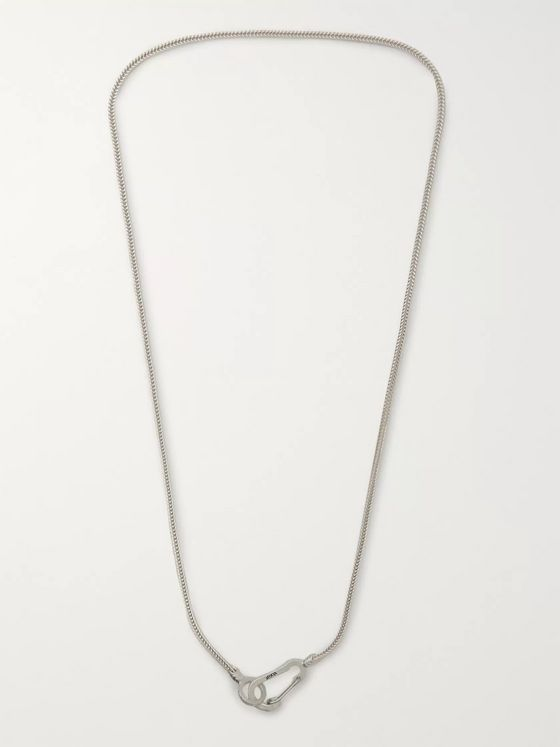 Mikia Snake Sterling Silver Necklace