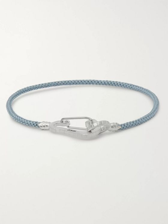 Mikia Cord and Sterling Silver Bracelet