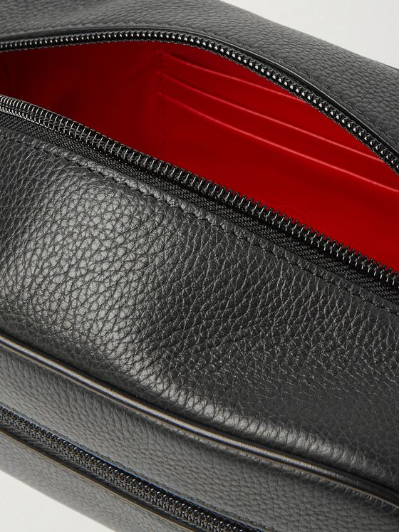 Christian Louboutin Full-Grain Leather Wash Bag