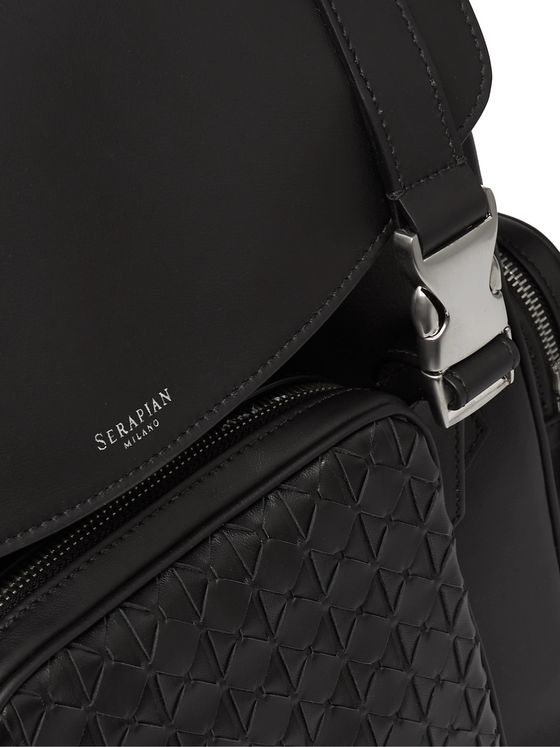 Serapian Mosaico Woven Leather Backpack