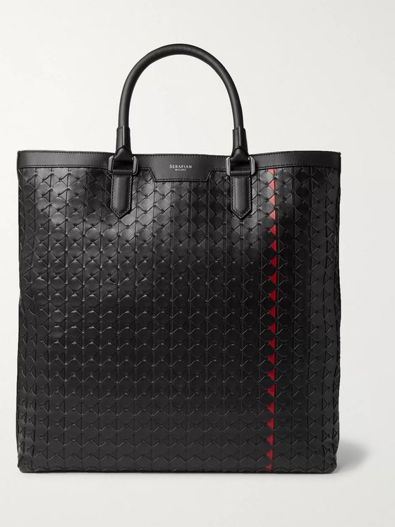 Serapian Mosaico Leather Tote Bag