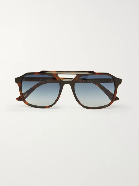 Kirk Originals Marc Square-Frame Tortoiseshell Acetate Sunglasses
