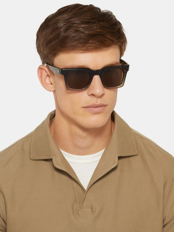 Kirk Originals Granger Square-Frame Acetate Sunglasses