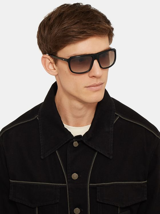 Kirk Originals Terry Square-Frame Acetate Sunglasses