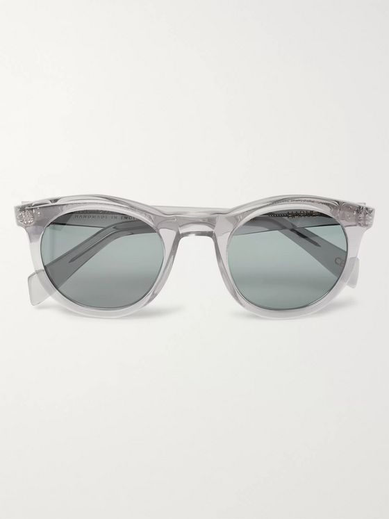 Kirk Originals Harvey Round-Frame Acetate Sunglasses