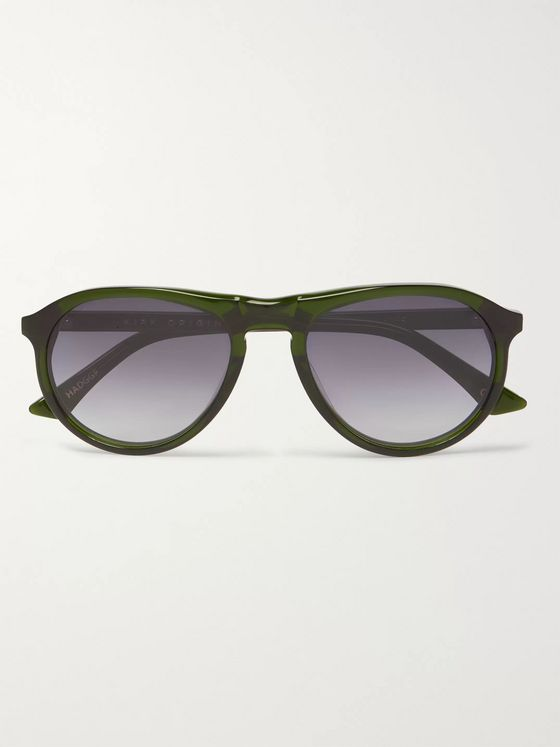 Kirk Originals Harper Aviator-Style Acetate Sunglasses