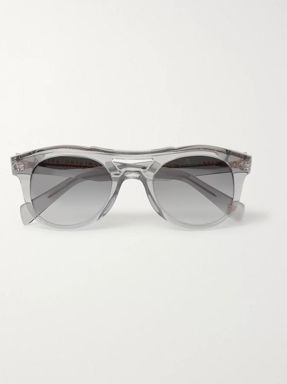 Kirk Originals Finney Round-Frame Acetate Sunglasses