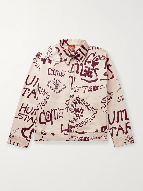 COME TEES Printed Denim Jacket