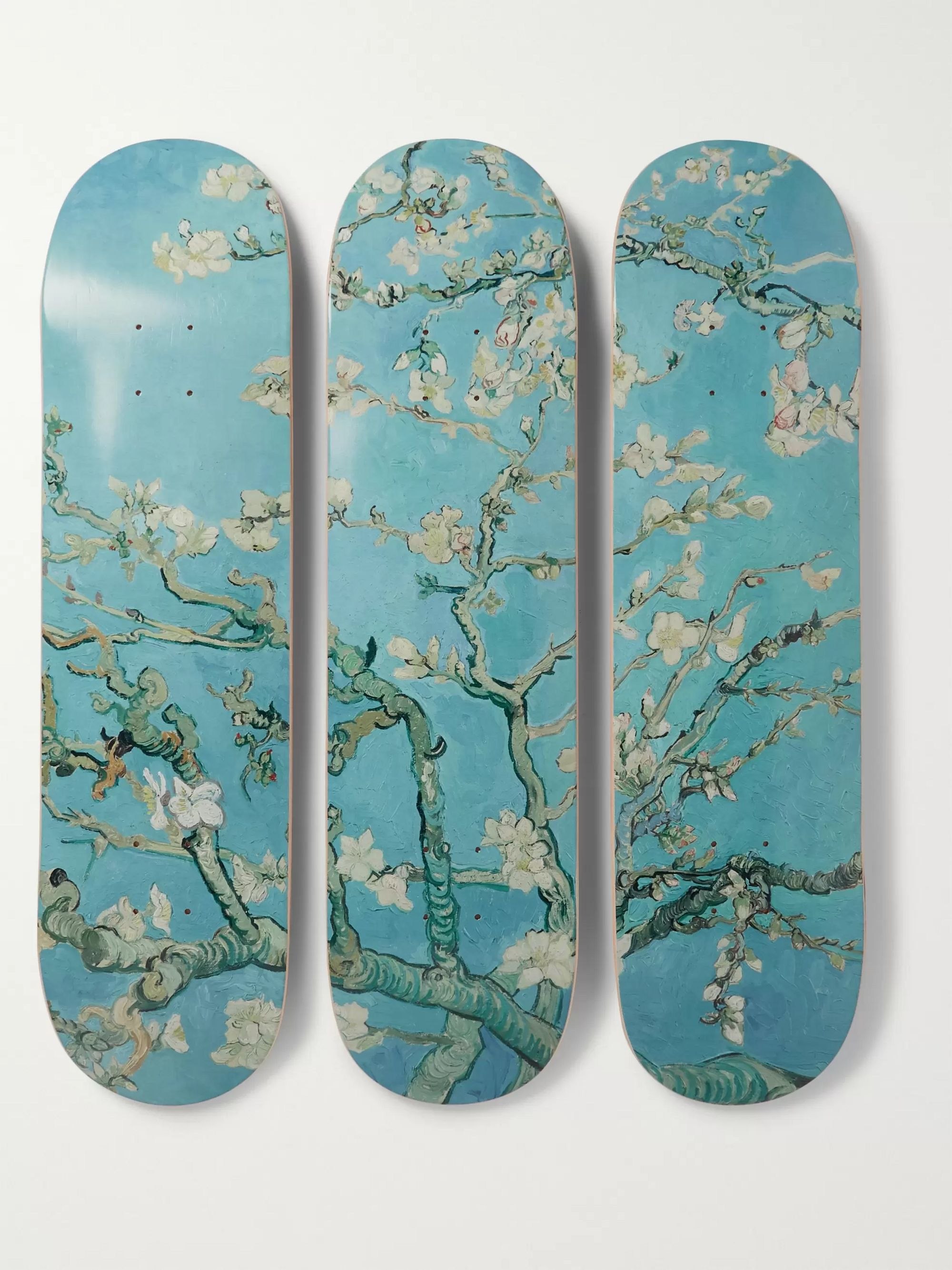 The SkateRoom + Vincent Van Gogh Set of Three Printed Skateboards