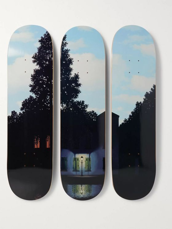 THE SKATEROOM + René Magritte Set of Three Printed Wooden Skateboards