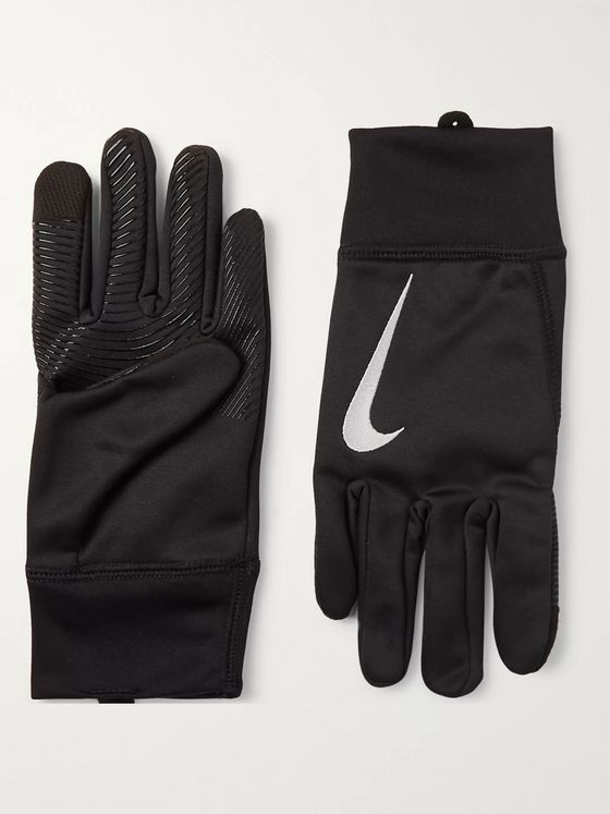 Nike Logo-Embroidered Therma Gloves