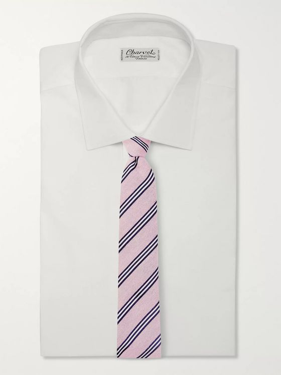 Turnbull & Asser 8.5cm Striped Cotton and Silk-Blend Tie