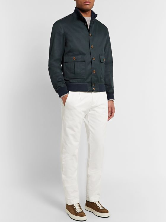 Valstar Valstarino Cotton-Blend Twill Bomber Jacket