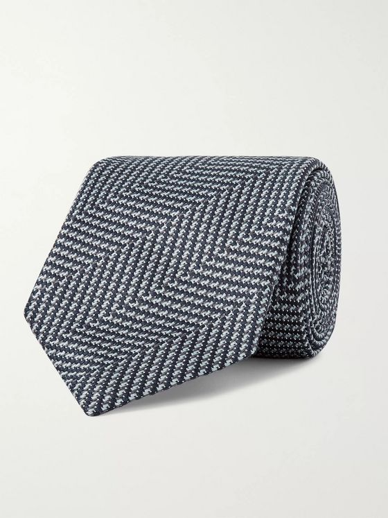 TOM FORD 9cm Herringbone Silk Tie