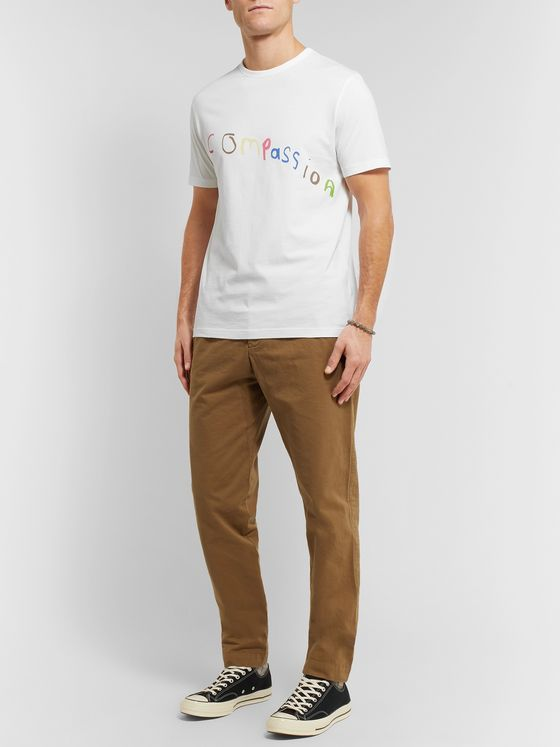 Mr P. MR PORTER Health In Mind Printed Mélange Cotton-Jersey T-Shirt