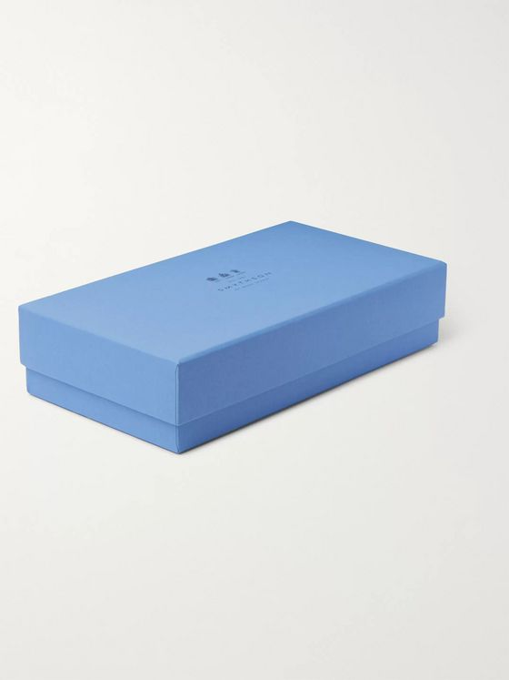 Smythson Panama Printed Textured-Leather Cufflinks Box
