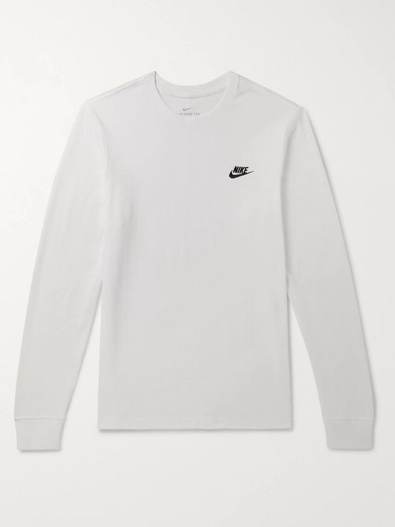 Nike Club Logo-Embroidered Cotton-Jersey T-Shirt